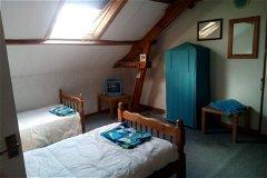 gite bedroom blue