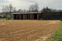 Land with horsebox