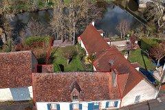 House,garden and river