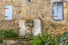 The beautiful 18th C fountain - a delightful feature