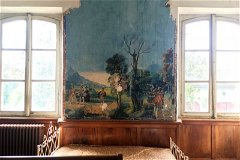 The 'Chambre Panoramique' with hand painted regency wall paper