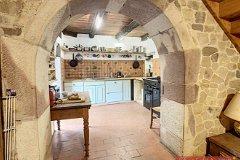 Archway to kitchen