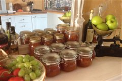 Home-made plum jam from orchard