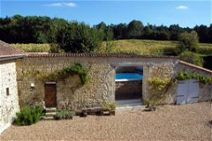 Pool in open barn
