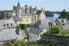 Montsoreau at the confluence of two rivers, the Loire and the Vienne