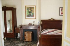 Many original features retained in the apartments  with classic French bedroom furniture