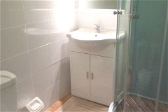 One of a choice of shower rooms. Each apartment has independent facilities