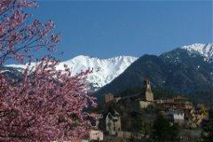 View towards Vernet-les-Bains and Canigou (2785m)