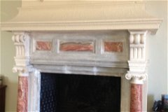 Fireplace master bedroom