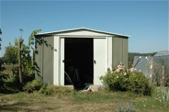 Garden metal shed for tools & accessories