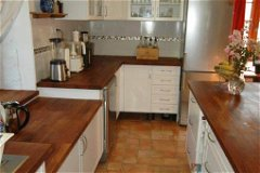 Plenty of cabinet/large drawer spaces. Lot of counter top surface with electric outlets