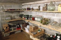 Basement:  Wood shelves