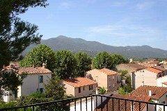 View of Maureillas village from upper terrace