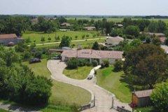 Aerial photo of villa & gardens