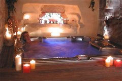 Spa with hot tub jacuzzi