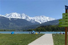 The Passy Lake at the foot of Mont-Blanc