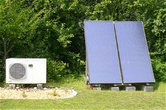heat pump and solar panels