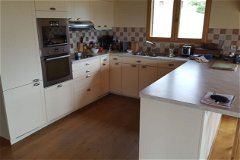 Kitchen fully integrated with all mod cons, induction hob and low energy appliances