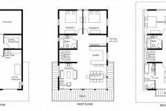 Floor layouts 1 2 3