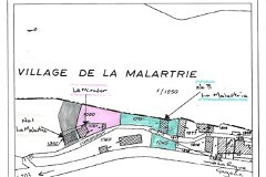 The three houses in La Malartrie 100 metres from the Chateau next to La Roque Gageac