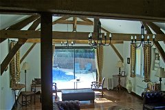 La Croze beams and view of the pool