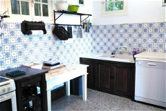 Kitchen with the old tiles in No1