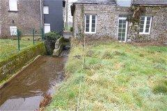 Stream alongside old mill